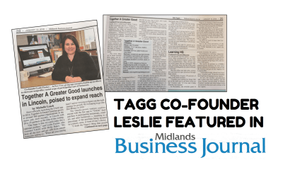 TAGG Co-Founder Leslie Featured in Midlands Business Journal