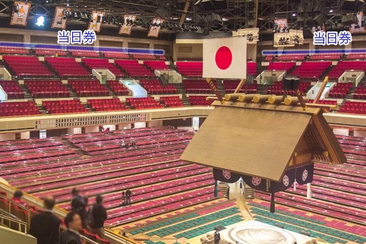大相撲 国技館 当日券 席の位置