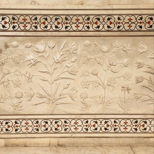 Mughal Flowers marble Taj mahal