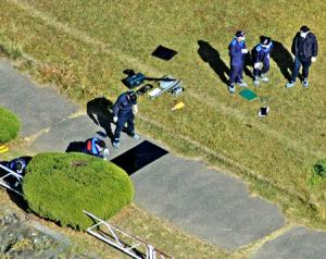 An organized crime member was shot in the riverbed of the Arakawa River in November