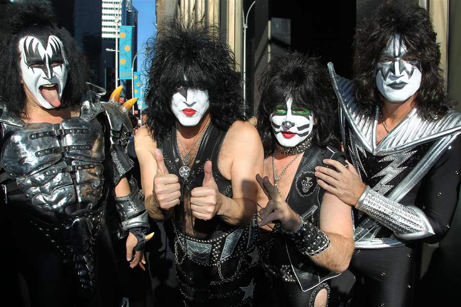 Gene Simmons and KISS selling spectacle to Toledo fans   The Blade Music Kiss SIMMONS STANLEY SINGER THAYER