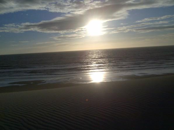 Sun setting in Portugal