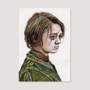 Arya Stark Sketch Card by Tom Deacon