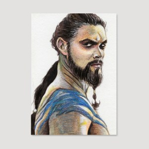 Khal Drogo Sketch Card by Tom Deacon