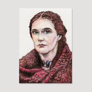 Melisandre Sketch Card by Tom Deacon