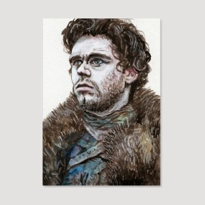 Robb Stark Sketch Card by Tom Deacon