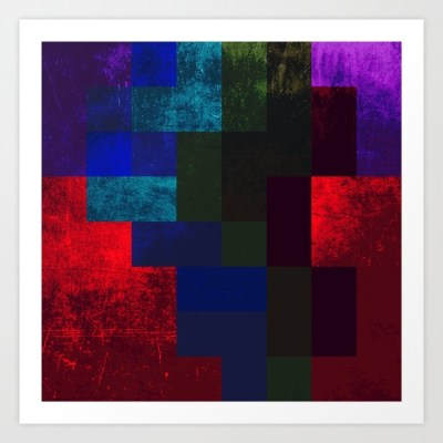 Sleeping Demon Art Print | Abstract Artwork by Tom Deacon