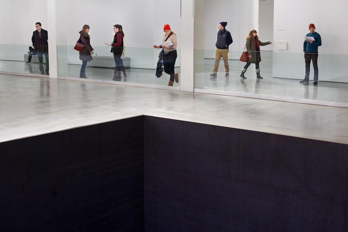 Michael Heizer installation at the Dia Beacon Art Center.  Photo: ©Tom Pietrasik Beacon, NY, USA February 16th 2015