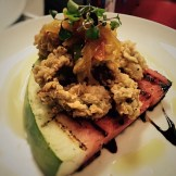 fried oysters grilled watermelon