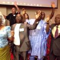 International minsters rejoice during the Parade of Nations at the Kingsway Fellowship International Convention in Des Moines, Iowa, in October. See details below.