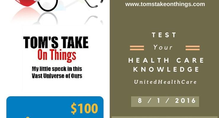 Preventive Care from UnitedHealthcare – Win a $100 Walmart Gift Card