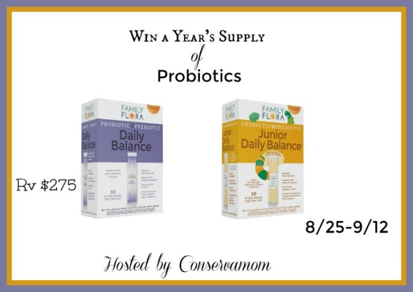 Win a Year's Supply of Probiotics