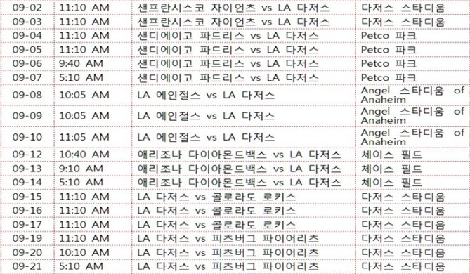 Ryu-HyunJin-and-LA-Dodgers-Match-Schedule-07