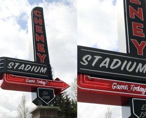 Cheney Stadium Entry Sign