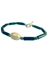 Tiny Tookey Tigereye and Pearl Bracelet