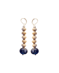White and Lapis earrings