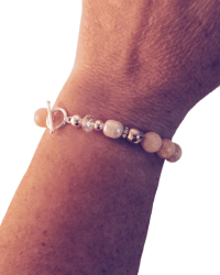 Classic Peach Bracelet with Clasp on arm