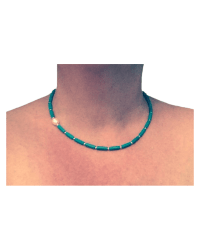 Tiny Tookey Turquoise & Pearl Necklace