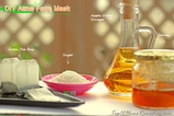 apple cider vinegar acne face mask