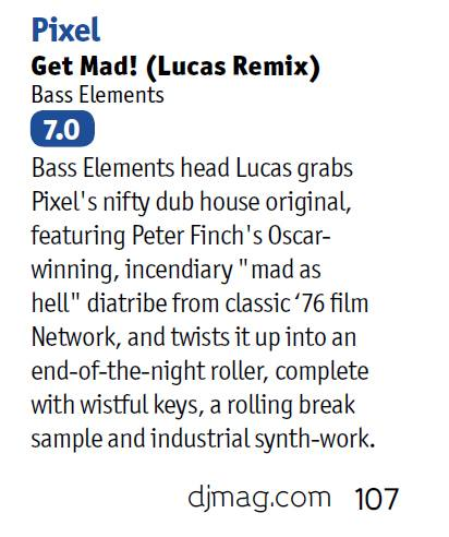 Pixel – Get Mad! (Lucas Remix) DJ Mag Review