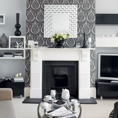 20 Inspire White And Black Living Room Designs