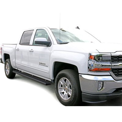 GMC Sierra 1500 Crew Cab 2014 2017 Running Boards Step Bars Black         GMC Sierra 1500 Crew Cab 2014 2017 Running Boards Step Bars Black  Aluminum Rocker Mount