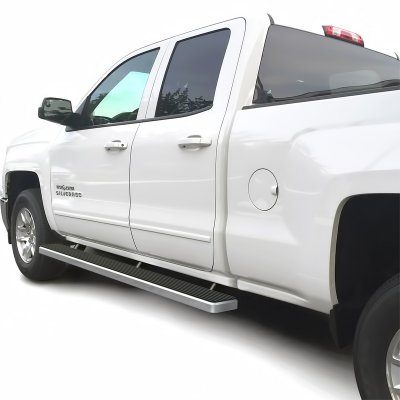 GMC Sierra 1500 Double Cab 2014 2017 Running Boards Step Bars         GMC Sierra 1500 Double Cab 2014 2017 Running Boards Step Bars Aluminum  Rocker Mount 5