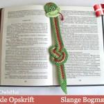 Slange bogmærke - af Little Owls Hut