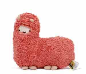 Crazy Genie Llama Alpaca Hug Plush Pillow Cushion Soft Toy Doll Furnishing Gift (red)