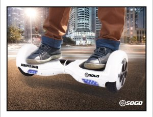 Sharper Image-Sogo Two Wheel Electric Self Balancing ScooterPersonal Transporter with LED Lights