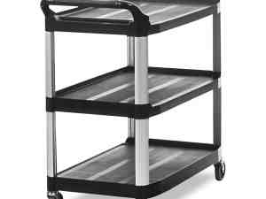 Rubbermaid Commercial 409100 BLA XTRA Service and Utility Cart