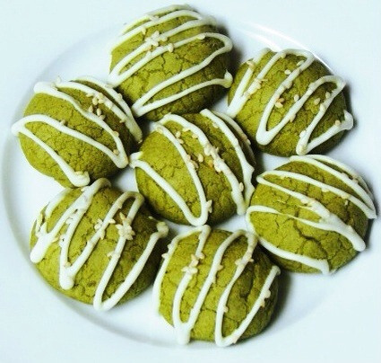 matcha green tea with white chocolate