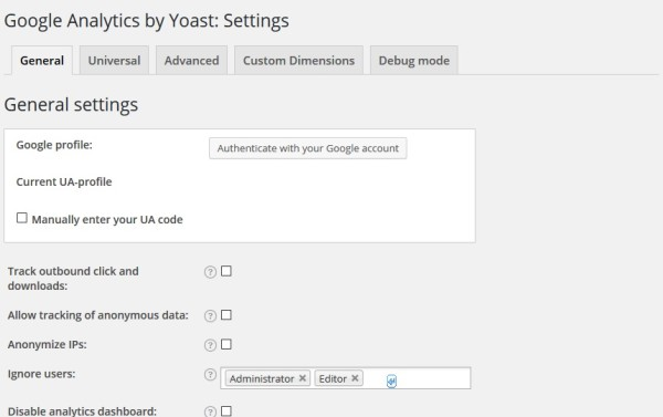 Google Analytics by Yoast