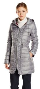 9. Kenneth Cole New York Women's Packable Down Coat with Cinch Waist