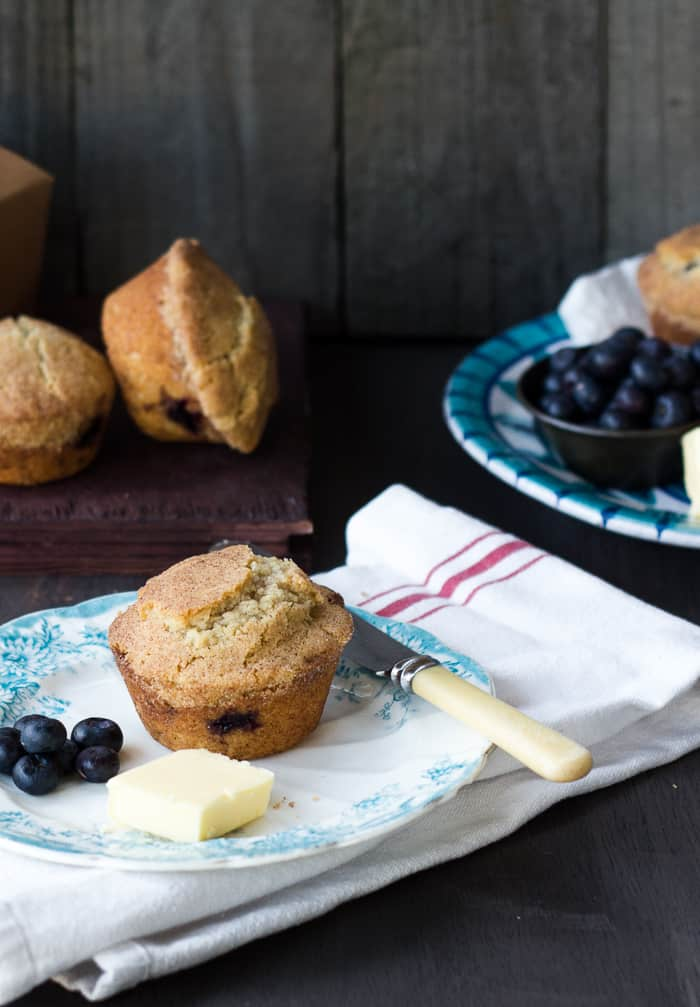 Snickerdoodle Cookie Topped Blueberry Doughnut Muffins - Izy Hossack ...