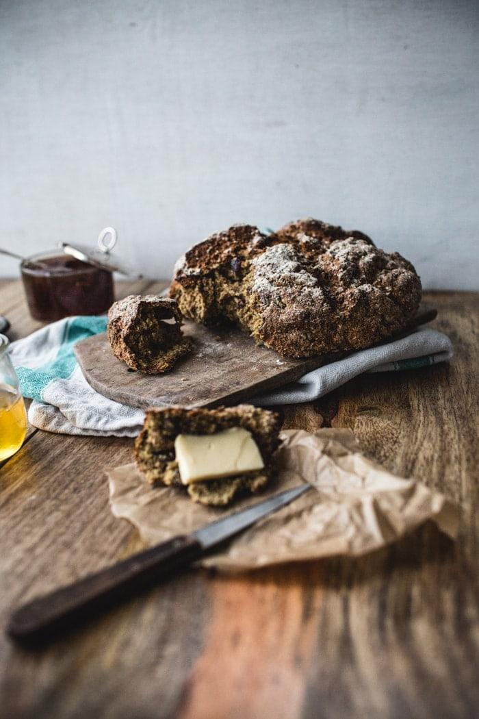 Cranberry-Pecan-Rye Soda Bread