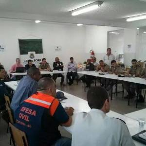 Reunião que define plano de ação para a partida entre Tupi e Paysandu no Mário Helênio foi realizada na manhã desta terça-feira
