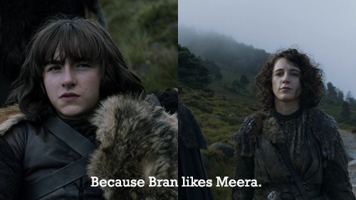 Bran Stark Meera Game of Thrones