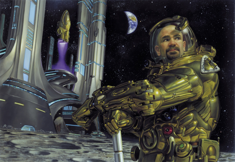 Highrises: Cities on the Moon by Donato Giancola.