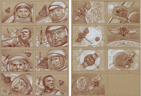 Donato Giancola space exploration postage stamps