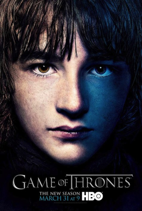 Game of Thrones season 3 character posters Bran