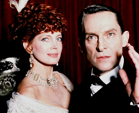 Jeremy Brett as Holmes and Gayle Hunnicutt as Adler from 1984's A SCANDAL IN BOHEMIA