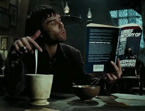Ian Brown as an unnamed patron of The Leaky Cauldron surely amused by Muggle science