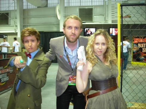 Me with Kelsey Ann Barrett (The Doctor) and Emily Asher-Perrin (River Song) at NYC Comic Con 2011