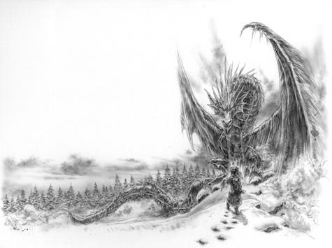The Ice Dragon George R. R. Martin Luis Royo interior art