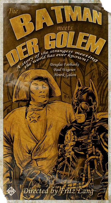 The Batman Meets Der Golem by Ken Miller