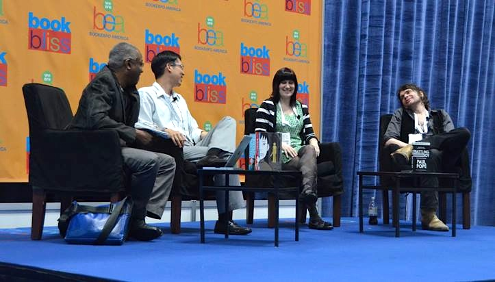 BEA 2013 comics panel Calvin Reid Gene Luen Yang Faith Erin Hicks Paul Pope