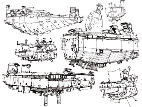 Ian McQue, sketches