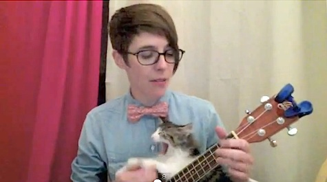 Nerd Love Song ukelele kitten DeAnne Smith