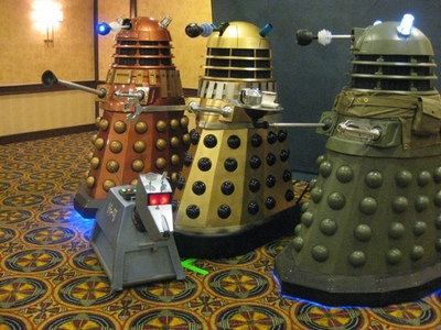 A gathering of Daleks and K-9 - Photo by Shellie Faught